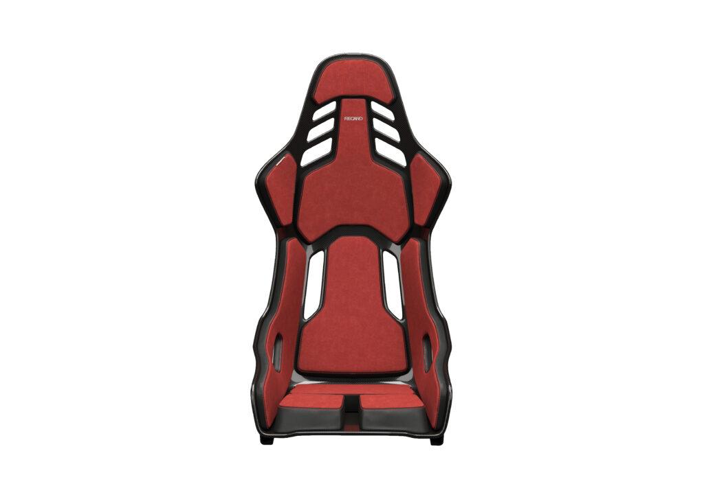 RECARO PODIUM Alcantara Rot/Leder Schwarz - Größe M 2