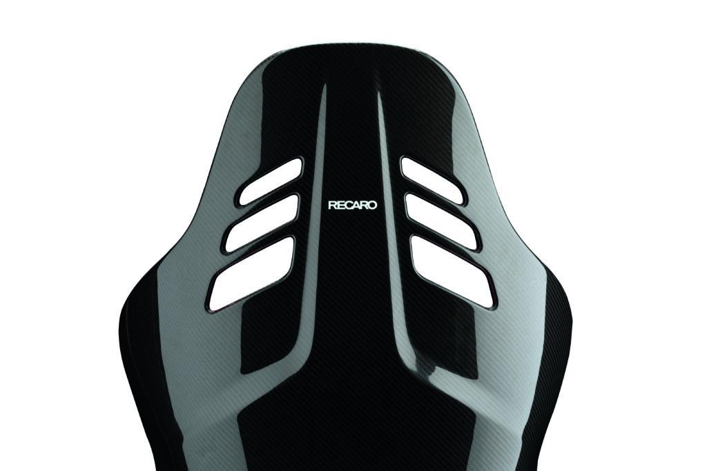 RECARO PODIUM Alcantara Rot/Leder Schwarz - Größe L 3