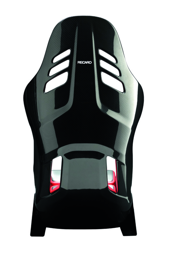 RECARO PODIUM Alcantara® schwarz/Leder rot - Größe M 4