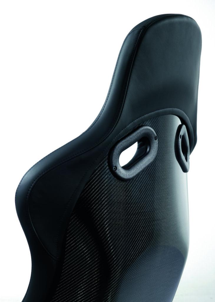 RECARO Pole Position Carbon (ABE) Perlonvelours schwarz 2