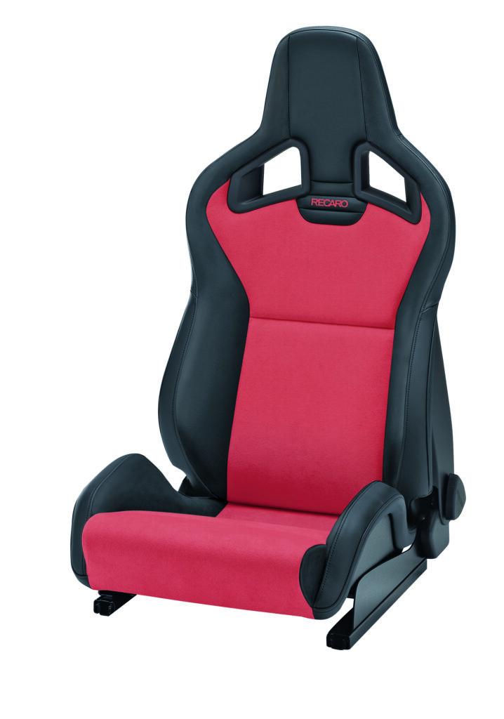 RECARO Sportster CS Kunstleder schwarz/Dinamica rot mit Sitzheizung 1