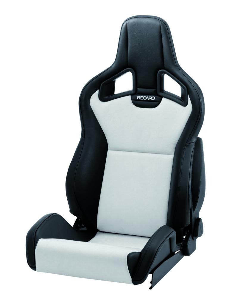 RECARO Sportster CS Kunstleder schwarz/Dinamica silber mit Sitzheizung 1